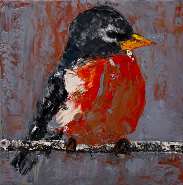 Roost Painting - Red Robin by Jani Freimann