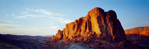 Valley Of Fire Photograph - Red Rock At Summer Sunset, Valley Of by Panoramic Images
