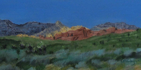 Painting - Red Rock Canyon Panorama by Linda Feinberg