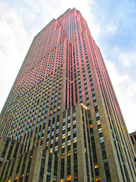 Photograph - Red Rockefeller Center by Steven Lapkin