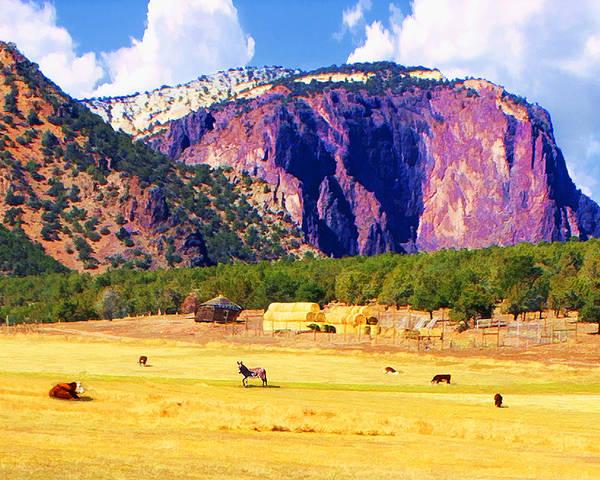 Digital Art - Red Rock Ranch by Rick Wicker