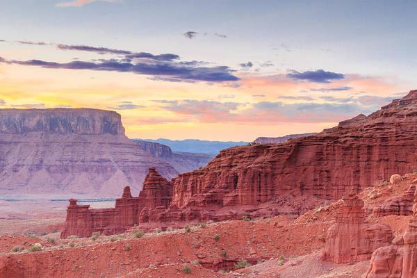 Fisher Towers Photograph - Red Rock Sunset by Bryan Bzdula
