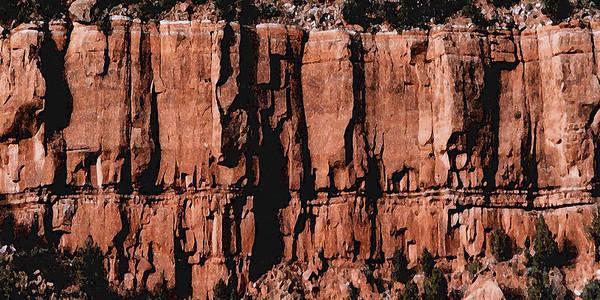 Digital Art - Red Rock Wall by David Hansen