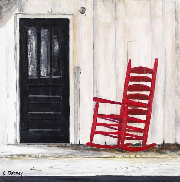 Red Rocker Art Print by Carla Dabney