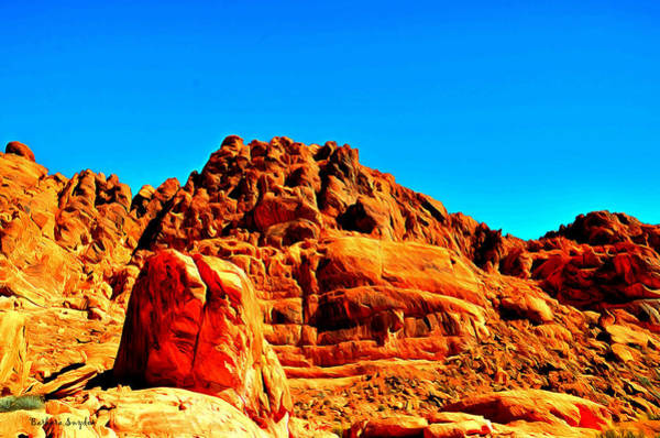 Valley Of Fire Painting - Valley Of Fire Nevada State Park 3 by Barbara Snyder