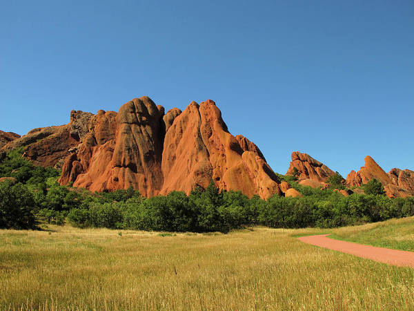 Douglas County Wall Art - Photograph - Red Rocks In Roxborough State Park by Ursula Sander