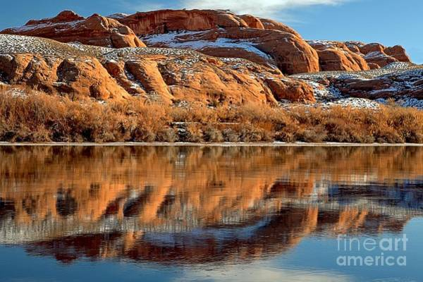 Photograph - Red Rocks In The Green River by Adam Jewell