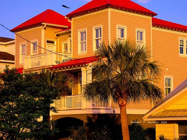 Photograph - Red Roof At Isle Of Palms by Kendall Kessler