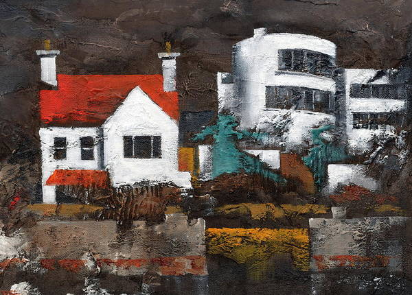 Painting - Red Roof In Sandycove Dublin by Val Byrne
