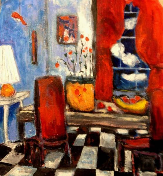 Painting - Red Room by Dilip Sheth