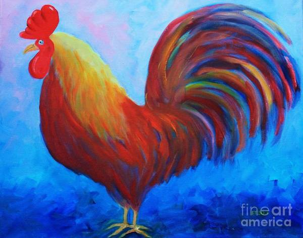 Painting - Red Rooster by Melinda Etzold