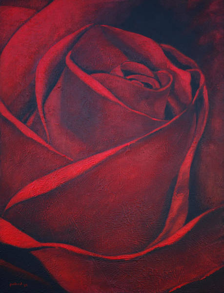 Painting - Red Rose by Glenn Pollard