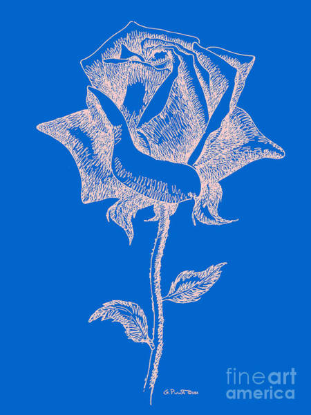 Digital Art - Red Rose Prints 12 by Gordon Punt