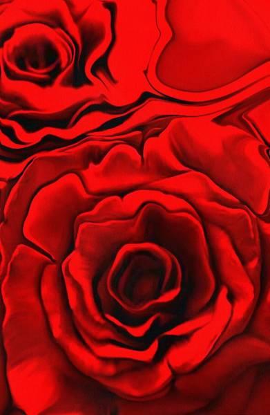 Digital Art - Red Roses by Catherine Lott
