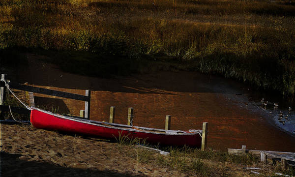 Photograph - Red Canoe by Rick Mosher