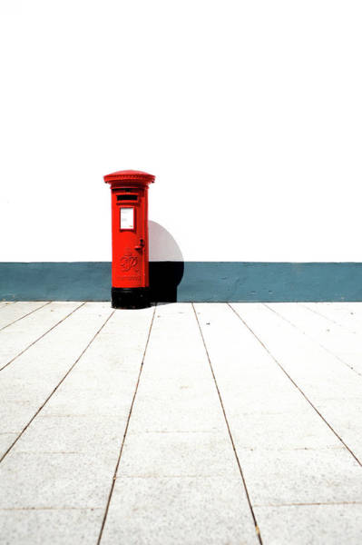 Mailbox Photograph - Red Royal Mail Box by See Me On Flickr Account-metal543