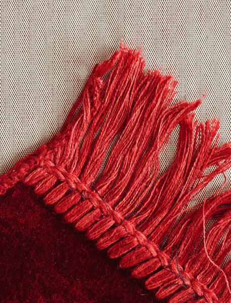 Burgundy Photograph - Red Rug by Tom Gowanlock