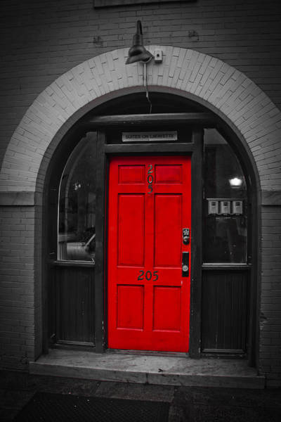 Behind The Red Door Art Print