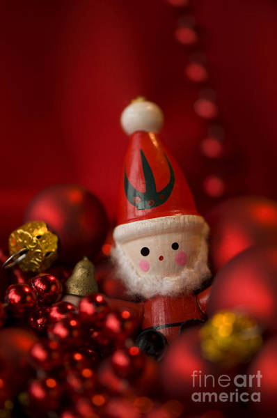Yule Photograph - Red Santa by Anne Gilbert