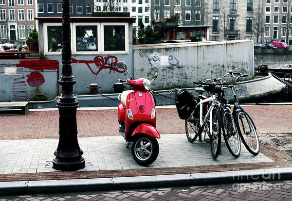 Photograph - Red Scooter by John Rizzuto