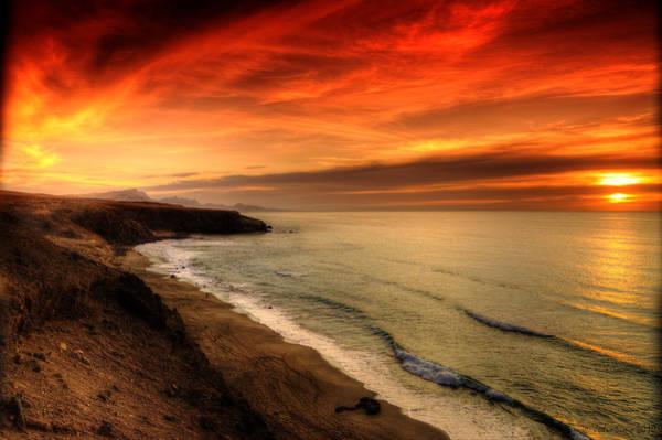Red Serenity Sunset Art Print