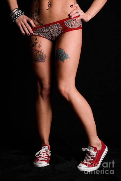 Tats Wall Art - Photograph - Red Shoes And Tats by Jt PhotoDesign