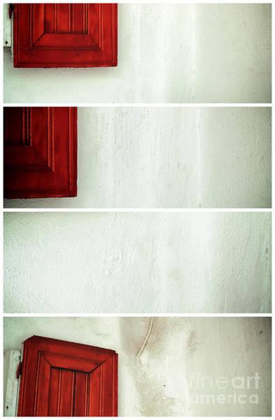 Photograph - Red Shutter Panels by John Rizzuto