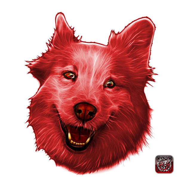 Painting - Red Siberian Husky Mix Dog Pop Art - 5060 Wb by James Ahn