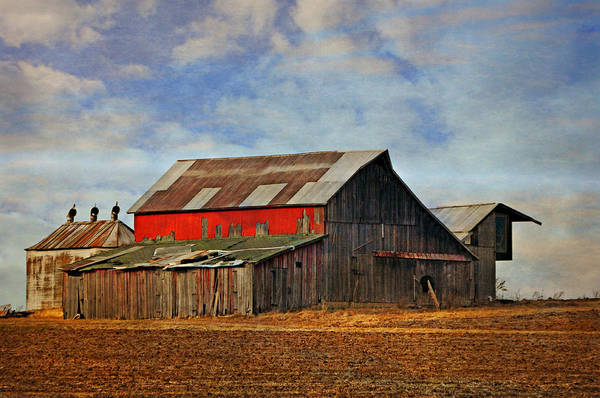 Photograph - Red Side Barn by Marty Koch
