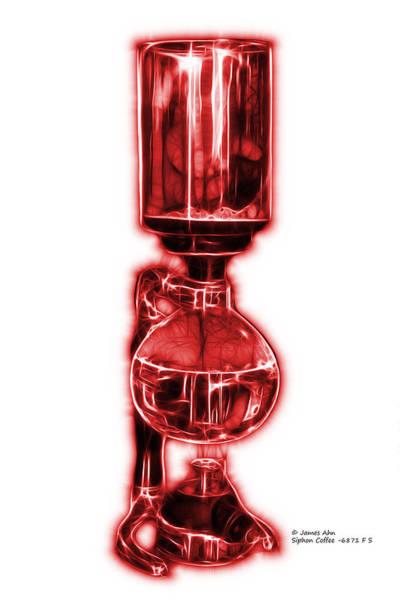Digital Art - Red Siphon Coffee 6781 F S by James Ahn