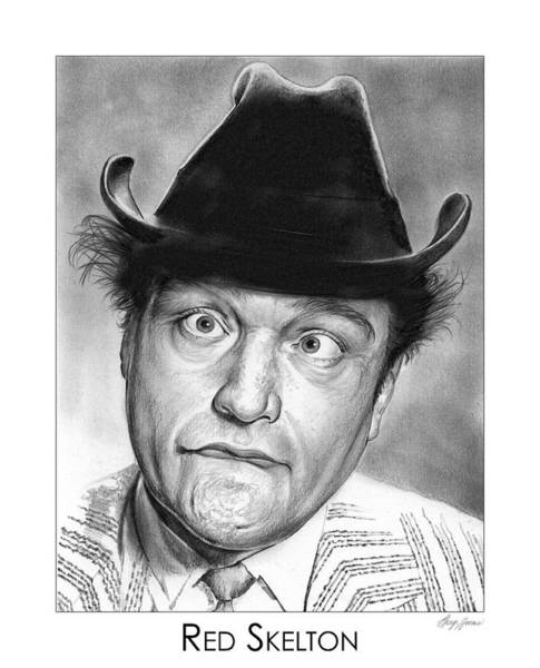 Funny Drawing - Red Skelton by Greg Joens
