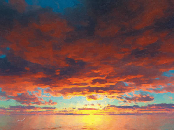 Wall Art - Painting - Red Skies Above by The Art of Marsha Charlebois