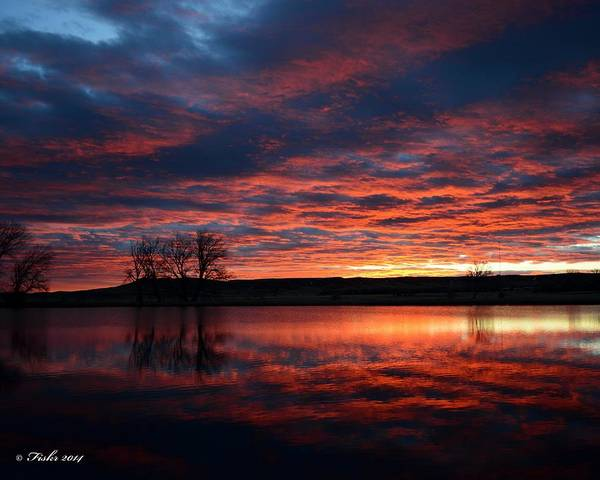 Photograph - Red Sky At Dawn by Fiskr Larsen