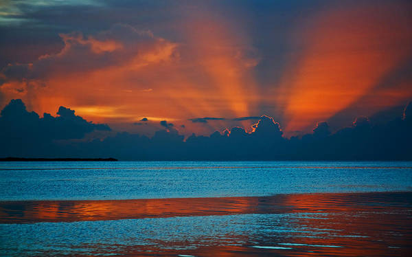 Photograph - Tropical Florida Keys Red Sky At Night by Ginger Wakem