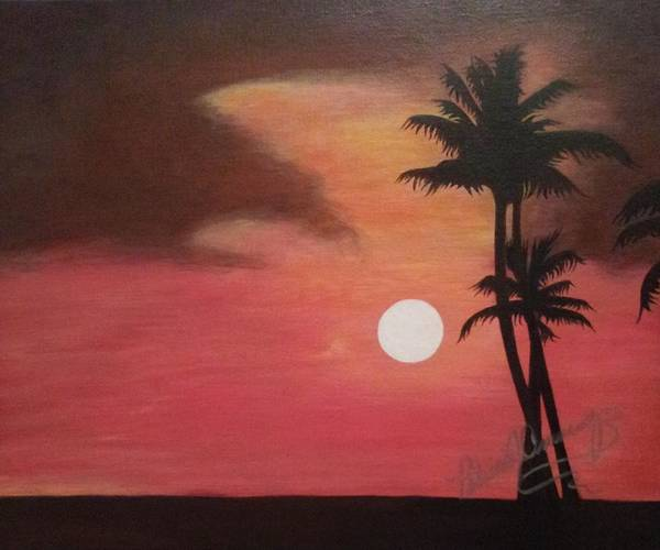 Painting - Red Sky At Night by Patricia Brewer-Cummings