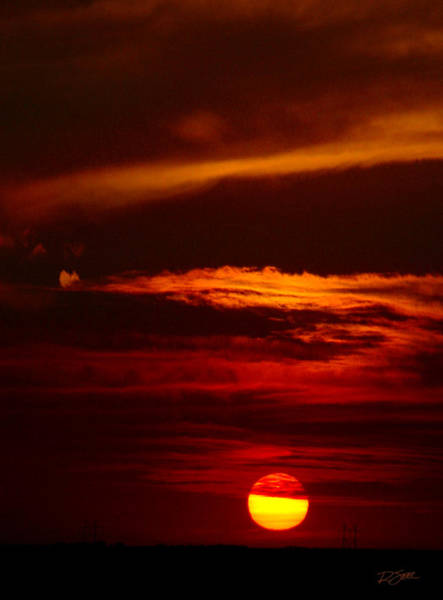 Photograph - Red Sky At Night Vertical by Rod Seel