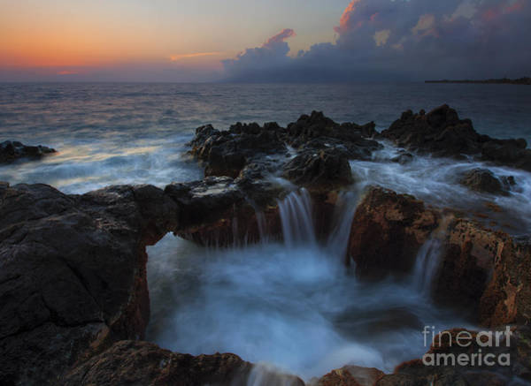 Kihei Photograph - Red Sky Cauldron by Mike  Dawson