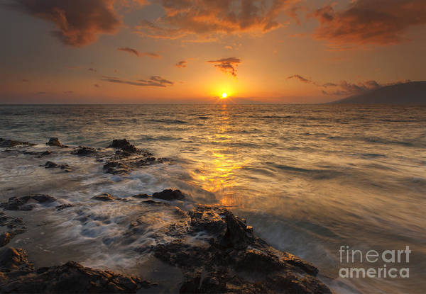 Maui Sunset Wall Art - Photograph - Red Sky In Paradise by Mike Dawson
