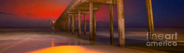Scripps Pier Photograph - Red Sky Scripps by Marco Crupi