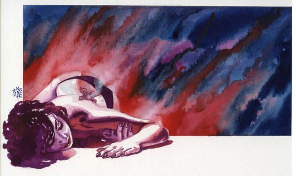 Wall Art - Painting - Red Sleep by Ken Meyer
