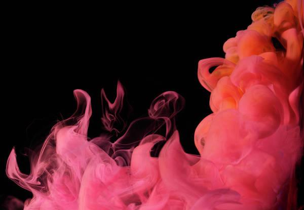 Photograph - Red Smoke by Henrik Sorensen