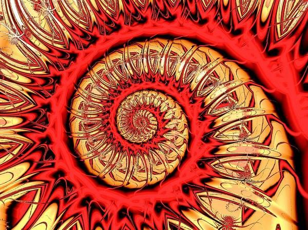 Digital Art - Red Spiral by Anastasiya Malakhova