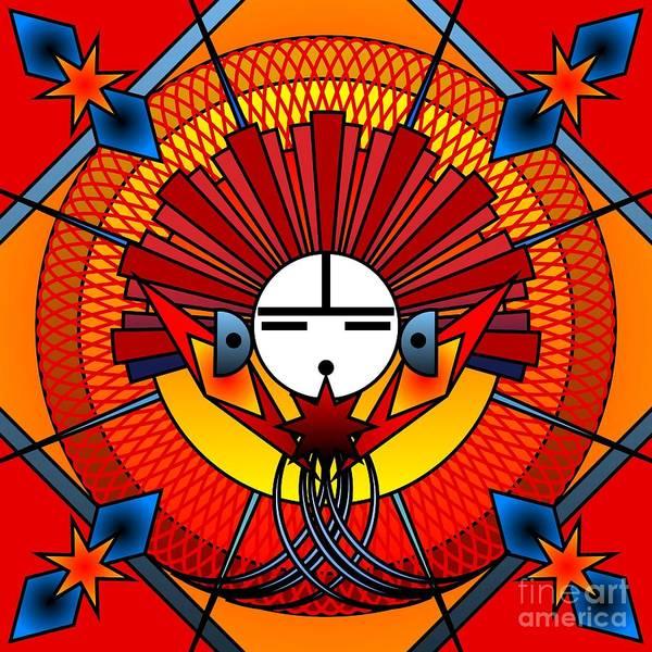 Digital Art - Red Star Kachina 2012 by Kathryn Strick