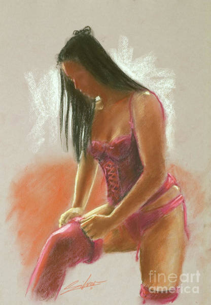 Painting - Red Stockings by John Silver