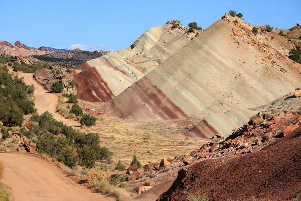 Photograph - Red Striped Desert by Aidan Moran