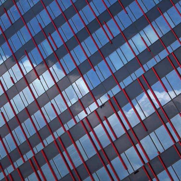Blue Sky Photograph - Red Stripes In Blue by Jeroen Van De