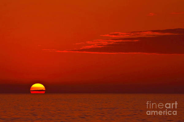 Photograph - Red Sun Another Planet by Beth Sargent