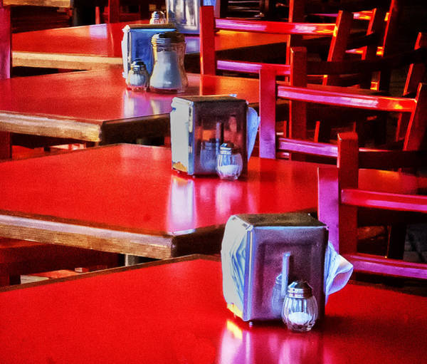 Photograph - Red Tables For Dinner by Barry Weiss