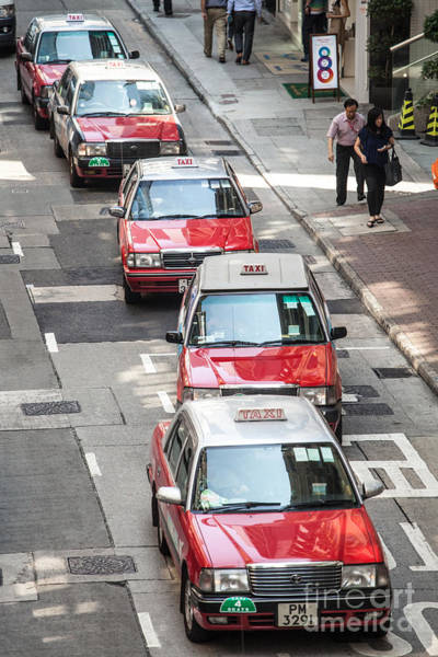 Wall Art - Photograph - Red Taxis - Hong Kong by Matteo Colombo