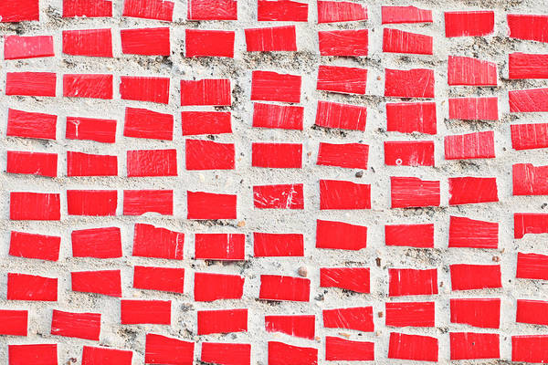Primary Colors Photograph - Red Tiles by Tom Gowanlock